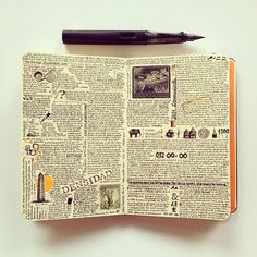 https://flic.kr/p/jXoXEU | The most compact page. | See more of my Moleskine pages in Instagram @jose_naranja