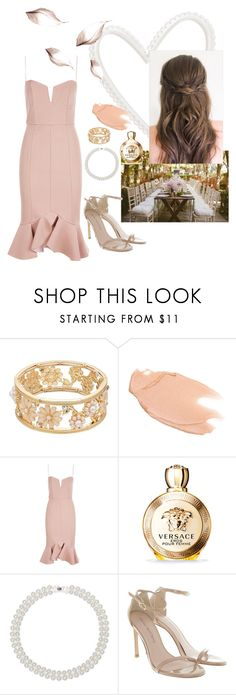 """""""Spring Wedding"""" by veronicanicole-1 on Polyvore featuring Too Faced Cosmetics, Nicholas, Versace, Kim Rogers and Stuart Weitzman"""