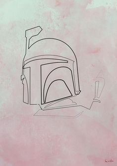 This artist creates portraits using one continuous line. Here is Boba Fett.