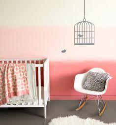 Gut Ombre Wand Im Babyzimmer Selber Machen