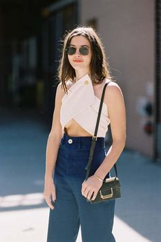 New York Fashion Week SS Rodarte (Vanessa Jackman) Street Style Summer, Street Style Looks, Street Style Women, Sustainable Looks, Sustainable Clothing, Sustainable Outfits, Vanessa Jackman, Summer Lookbook, Mode Style