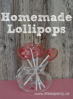 Homemade Valentine Lollipops