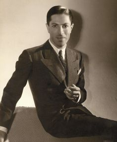 The baron, photographed by George Hurrell, 1930s.