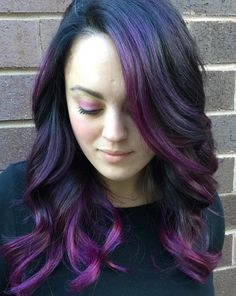 black+hair+with+violet+balayage