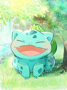 Pokemon Bulbasaur, Pokemon Red, Pokemon Comics, Pokemon Fan Art, First Pokemon, Cute Pokemon Wallpaper, Cute Cartoon Wallpapers, Wallpaper Iphone Cute, Fotos Do Pokemon