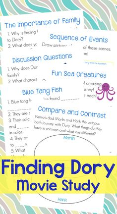 Make Finding Dory a fun learning experience!