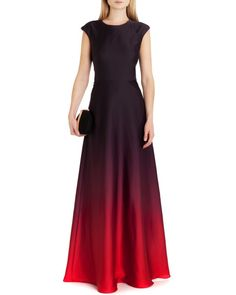 Ombre maxi dress - Red | Dresses | Ted Baker