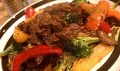 Asian style beef & veggies. Spicy ginger goodness!
