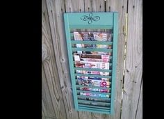 Fifteen favorite creative DIY shutter projects made from repurposed old wood shutters. Packed with useful ideas for old window shutters for home decor. Do It Yourself Furniture, Do It Yourself Home, Diy Furniture, Repurposed Furniture, Furniture Plans, Painted Furniture, Repurposed Items, Furniture Refinishing, Street Furniture