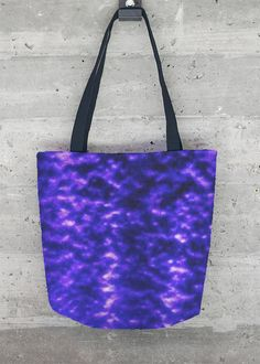 VIDA Statement Bag - vivid blue purple flowers by VIDA 1KODI