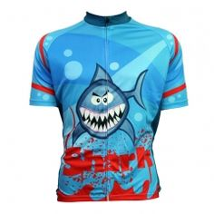 Alien SportsWear Bloody Shark Pattern Men's O-Neck Blue Short Sleeve Bicycle Clothes Summer Quick Dry Cycling Clothing Road Bike Jerseys, Bike Shirts, Bicycle Jerseys, Unique Cycling Jerseys, Team Cycling Jerseys, Cycling Outfit, Cycling Clothing, Sport Outfits, Summer Outfits