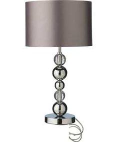 Kichler Table Lamps: Heart of House Austin Stack Ball Table Lamp - Chrome. #ArgosRoomInspiration,Lighting