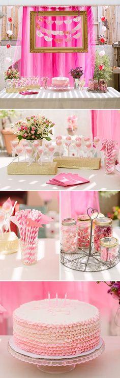 Dicas pra Mamãe: Temas de rosas para festa de Menina