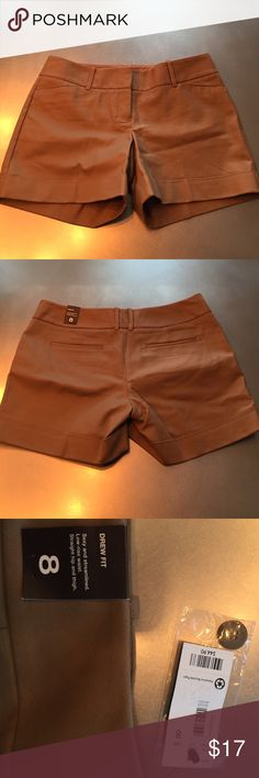 The Limited camel color shorts NWT Drew fit, Dress shorts, size 8 The Limited Shorts