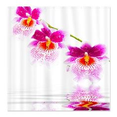 Oncidium Pink And White Orchids Shower Curtain #showercurtain #cafepress #orchids #homedecor #oncidiumorchids $43.59