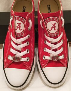 University of Alabama Converse Chuck Taylor by PimpMyKickz on Etsy