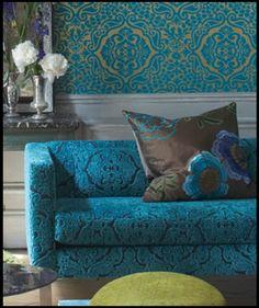 monplaisir fioravanti fabric from Designers Guild. For general room design inspiration.