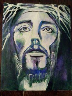 Jesus by Missy Lynn @ The Gratitude Shop Etsy listing at https://www.etsy.com/listing/215530109/the-savior