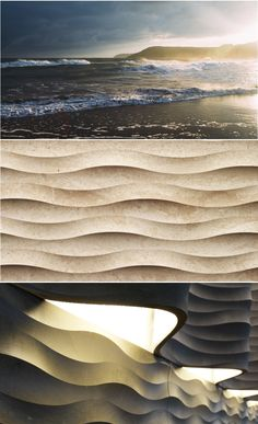 """Sometimes, you need to get to the bottom of things to really know them. We got to the bottom of the sea, bringing its sandy, wavy shapes to a new, marble-lously life. Here is our wall cladding """"fondo"""" from the """"Le Pietre Incise"""" collection."""