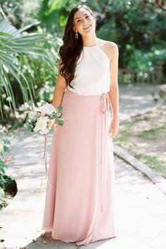 Hayden Skirt in Blushing Bride Chiffon