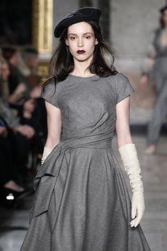 Designer@luisabeccariachannels gothic romance at #MFW