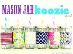 DIY Mason Jar Koozie Sleeve Tutorial