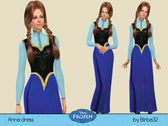 Frozen Anna's dress by Birba32 at TSR via Sims 4 Updates  Check more at http://sims4updates.net/clothing/frozen-annas-dress-by-birba32-at-tsr/