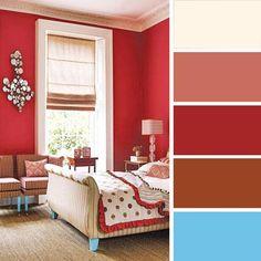 bedroom design with pink walls