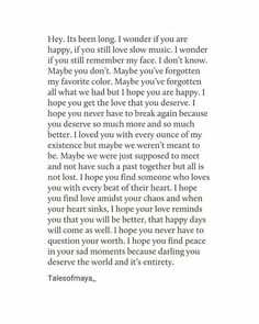 Writing a letter to your ex girlfriend