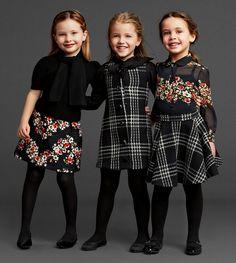 Dolce Gabbana Children #fashionkids #alfaiataria #lanosos #xadrezes #girls #elegancia #modainfantil #winter #inverno #kids #FocusTextil
