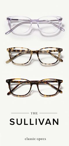 3c16b3031c75 The Sullivan glasses are a soft rectangle glasses frame for oval and round  face shapes. Features stainless steel hinges and premium acetate reinforced  with ...