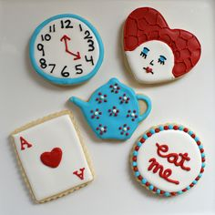 alice in wonderland cookies | Alice in Wonderland Birthday Party! | Flickr - Photo Sharing!