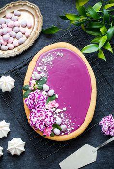Mazurek hibiskusowy - Gotuję, bo lubię