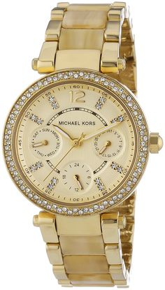 90832bbccfda49 Michael Kors Mini Parker Crystal Bezel Ladies Watch MK5842 -- Continue to  the product at