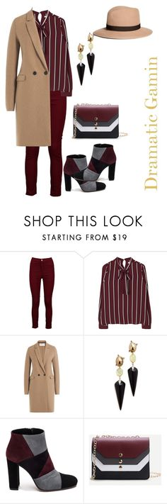 """Expressive gamin"" by bornfly-i on Polyvore featuring Boohoo, Harris Wharf London, Alexis Bittar, Roberto Festa and Brooks Brothers"