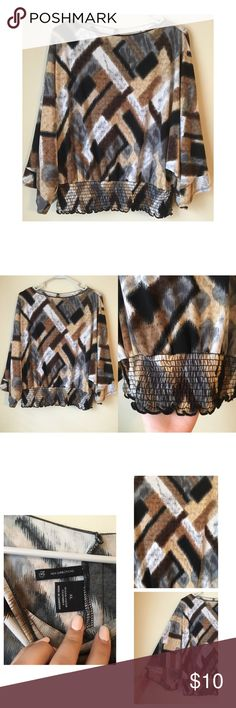 New directions blouse Size XL. Flowy sleeves. new directions Tops Blouses