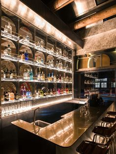 Image 17 of 23 from gallery of BigSmall Coffee / designRESERVE. Photograph by Boris Shiu Bar Interior Design, Restaurant Interior Design, Lounge Design, Bar Lounge, Chair Design, Design Design, Studio House, Club Bar, Bar Counter Design
