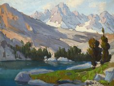 Edgar Payne, Sierra Lake,.............The Coeur d'Alene Art Auction