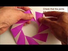 Origami Modular Candy Cane Wreath Folding Instructions