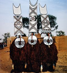 """Bwa Plank Masks"" Yenou Village, Burkina Faso, 2006 photo by Phyllis Galembo"