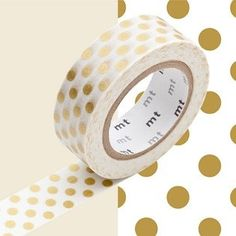 MT Washi Tape Dot Gold Gold Polka Dots