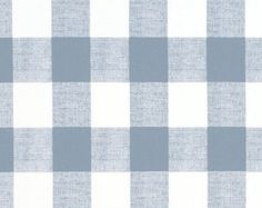 Swedish Check Chambray Blue Designer Plaid Fabric by the Yard  Drapery or Upholstery Fabric Blue & White Cotton Plaid Fabric B281