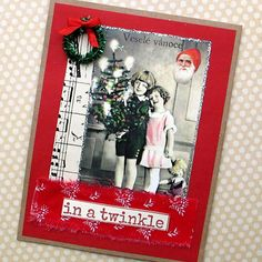 Handmade Christmas Card In a Twinkle