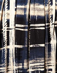 painted plaid, discharge rope