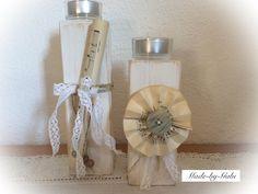 Teelichthalter Shabby 2 tlg. von Made-by-Gabi auf DaWanda.com