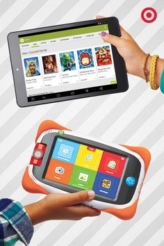 Older kids need some tablet love, too. Give them the gift of the RCA 8 Android Tablet. Merry Christmas, youngster. And a kid-friendly tablet that can handle drops and sticky fingers? This Nabi Jr. Tablet is a must-have gift for every kid who loves to learn and play.