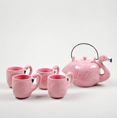 5pc Flamingo Shaped Tea Set