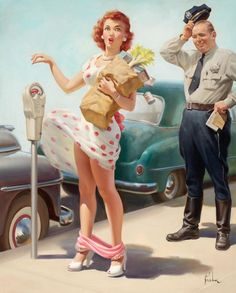 Art Frahm  ( I love his little trademark celery/panty drop that he does for many of his paintings )