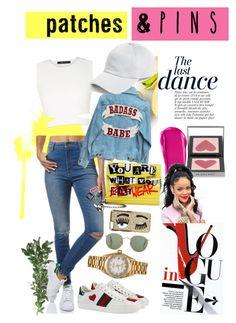 """Contest : Patches and pins"" by deastyzasqiya on Polyvore featuring Wrangler, BCBGMAXAZRIA, Jimmy Choo, Gucci, Chiara Ferragni, rag & bone, Rolex, Anja, Burberry and NARS Cosmetics"