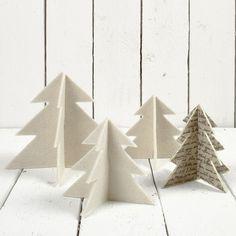 12658 Kerstbomen van vilt